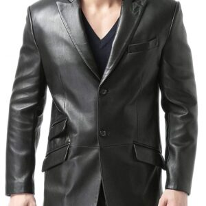Men's Classic Leather Blazer