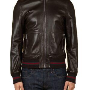American rapper Eminem Not Afraid Bomber Leather Jacket