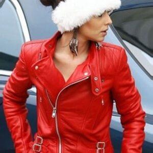 English singer, Cheryl Ann Tweedy Santa Claus Inspired Jacket