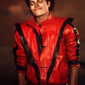 Singer Michael Jackson Thriller Leather Jacket